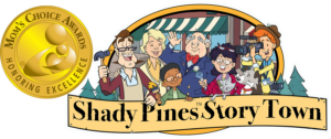 Shady Pines Story Town logo